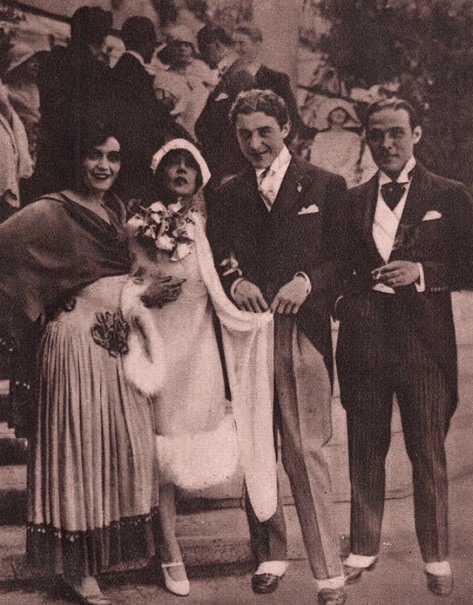 Rudolph Valentino & Pola Negri at the Wedding of Mae Murry