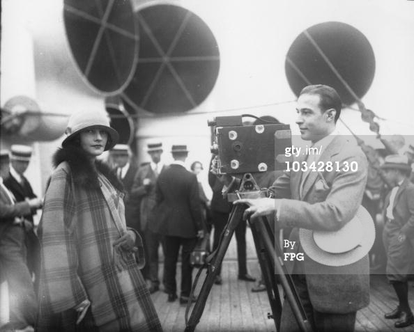 Rudolph Valentino Filming his wife