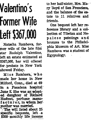 6 Aug 1966 - Natacha Rambova